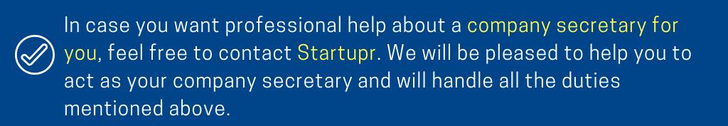 Startupr Company Secretary Service